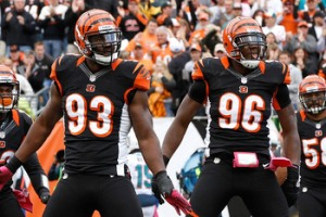 Michael Johnson and Carlos Dunlap anchor the Defensive Line